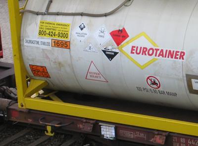 Tankcontainer-Kennzeichnung
